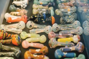 Glass pieces at House of Glass in Des Moines, Iowa